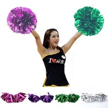 Hot Sale 2Pcs Sports Cheer Basketball Team Cheerleading Christmas Dance Girls Pompom(China (Mainland))