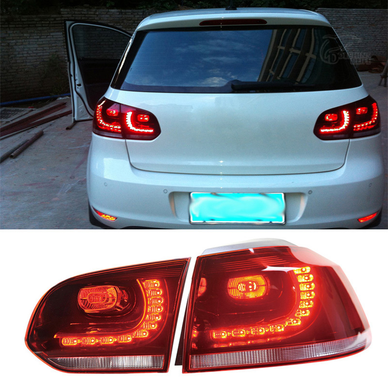 Newest LED Rear Lights Kit modification Car Styling Taillights Lamp For VW Volkswagen Golf 6 2011 2012 2013 Red-type