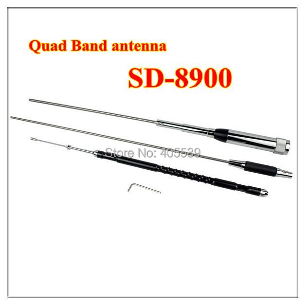 free shipping new antenna JiaSiDa SD-8900 Quad Band antenna 29/50/144/430MHz for FM transceiver mobile radio 60W(China (Mainland))