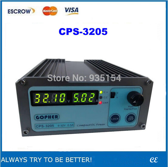 Free ship! Small Volume CPS-3205 32V 5A compact adjustable DC Power Supply For Laptop Repairing, mA display(China (Mainland))