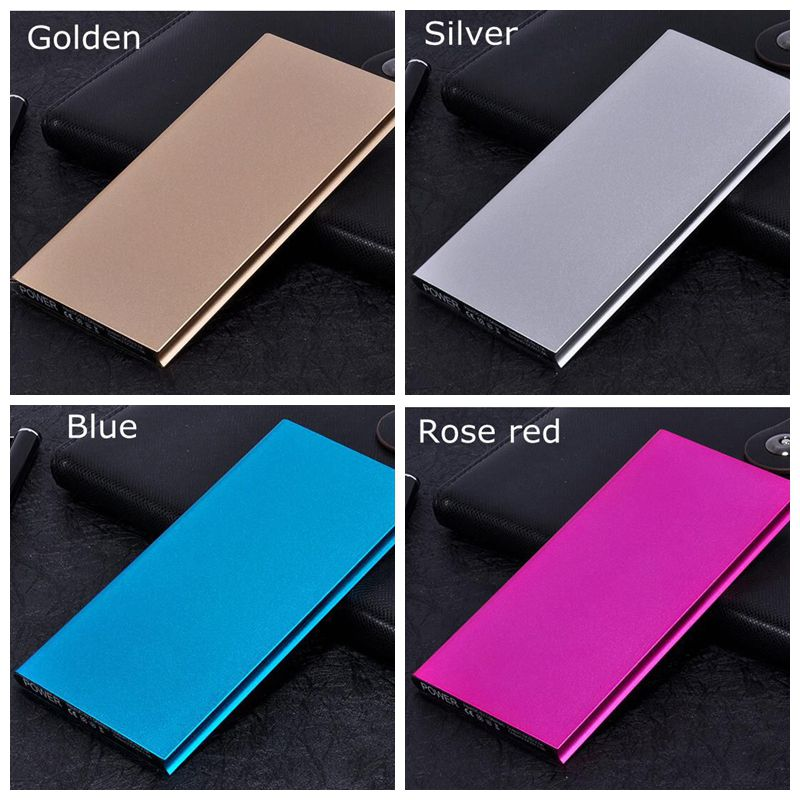 Universal Power Bank 20000mah Slim Powerbank 20000 Dual usb Port Flashlight 5V 2A for iPhone 5 Charge 4.5times for All Phone