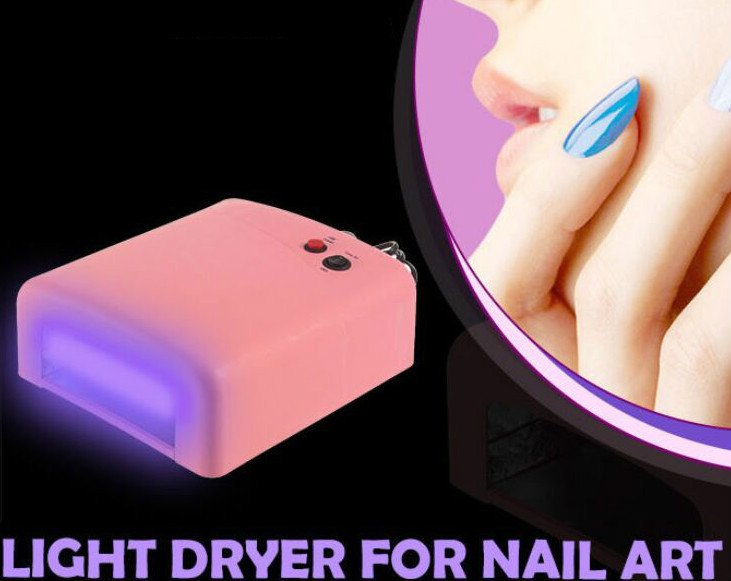 High Quality Popular 36W EU Plug Ultraviolet 220V Gel Professional UV Curing Lamp Light Dryer Nail Art Free Shipping(China (Mainland))