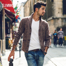 Simwood Sweater Men 2016 New Brand Autumn Winter Turn-down Collar Knitted Cardigans Pull Homme Plus Size Free Shipping MY370(China (Mainland))
