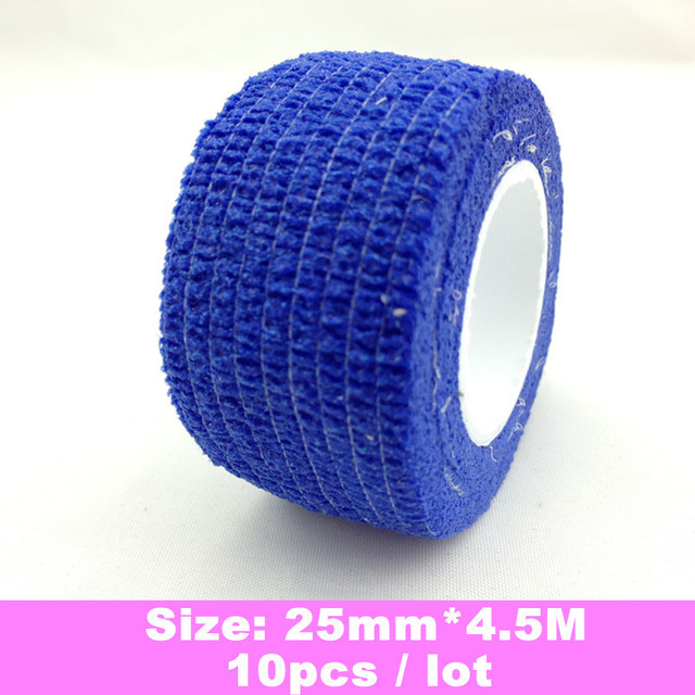 10 x Finger File Bandage Strip Protection Flex Wrap Color Rolls Manicure Tool Accessory + Free Shipping