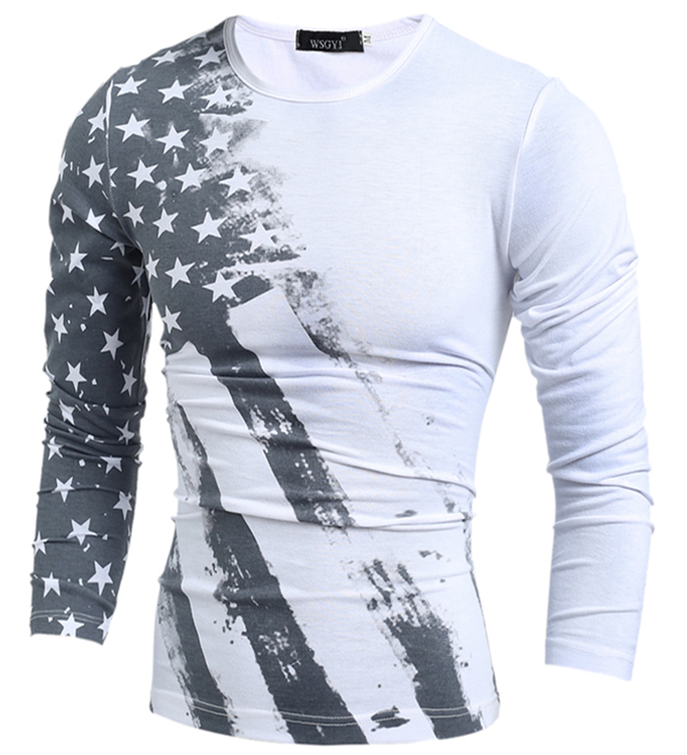 Compra bandera americana de la camiseta online al por for La fitness t shirt