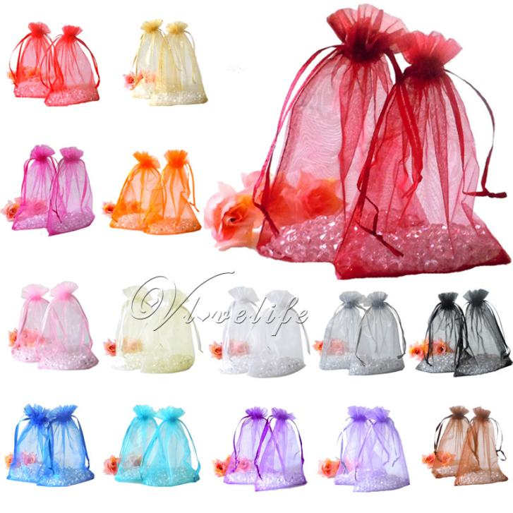 """100pcs 4"""" x 6"""" Organza Gift Bag Strong Candy Gift Bags Wedding Christmas Party Favor Bags Gift Candy Pouch 10cm*15cm(China (Mainland))"""