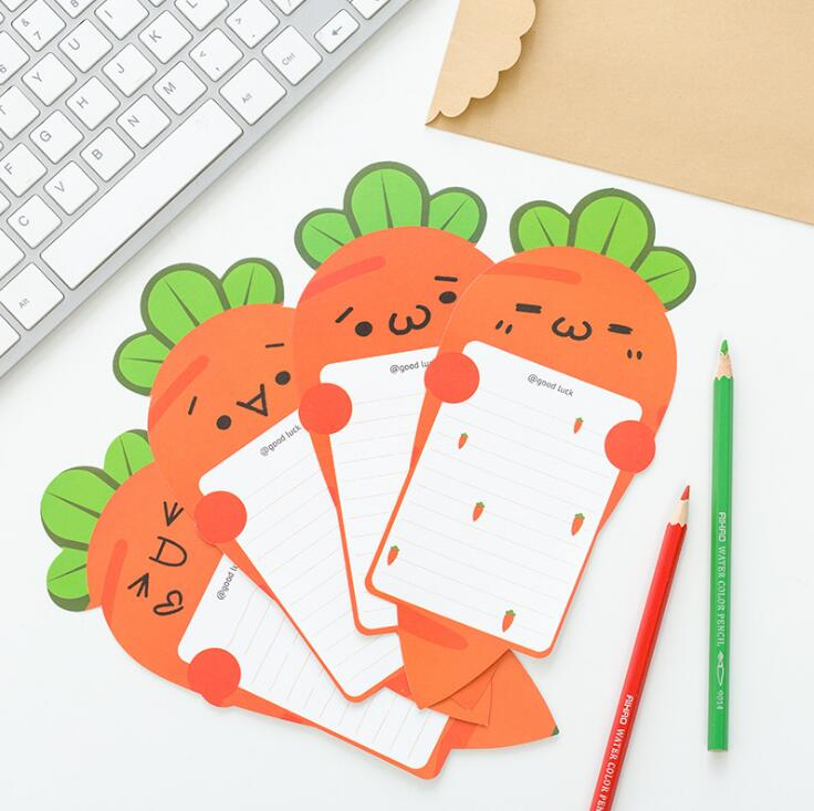 6 pcs/pack Harvest Story Carrot Letter Paper with Simple Envelope Letter Pad Gift Stationery School Office Supply(China (Mainland))