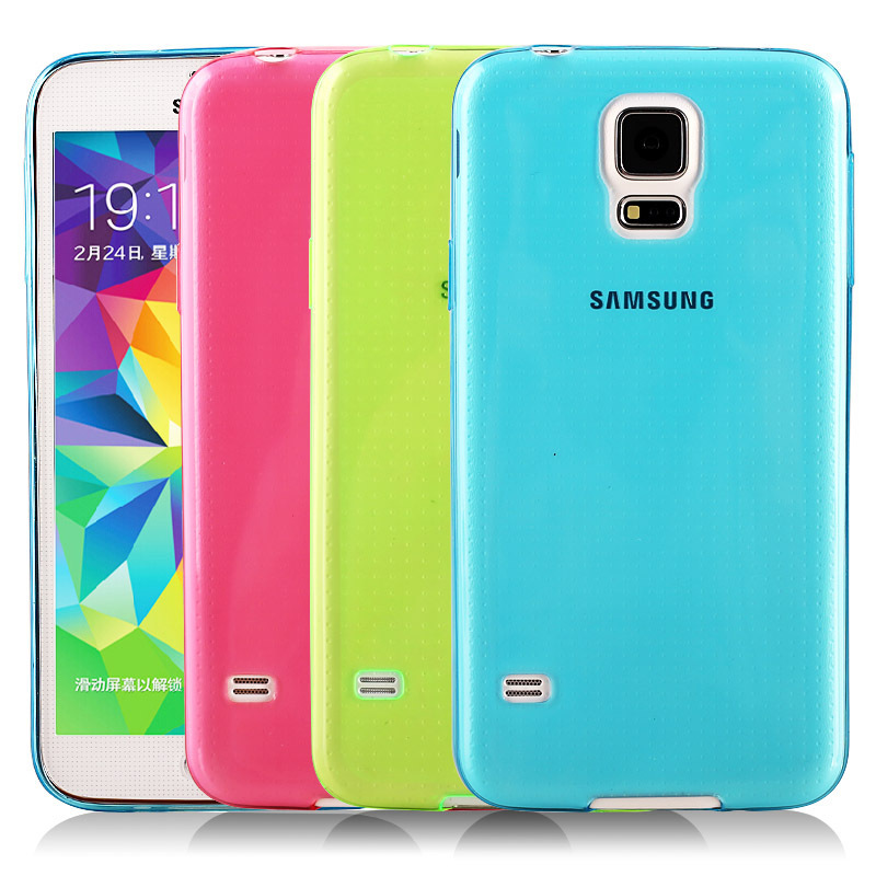 0.3mm Ultra Thin Fexible Soft Case For Samsung Galaxy S5 I9600 Crystal Simple Back Mobile Shell Pure Soft Phone Cover(China (Mainland))