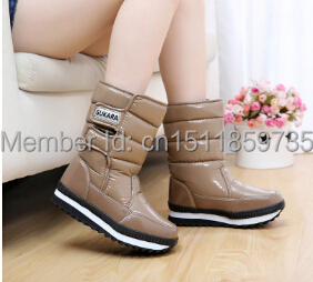 2014 cylinder waterproof anti-skid thickened villi lady snow boots warm boots<br><br>Aliexpress