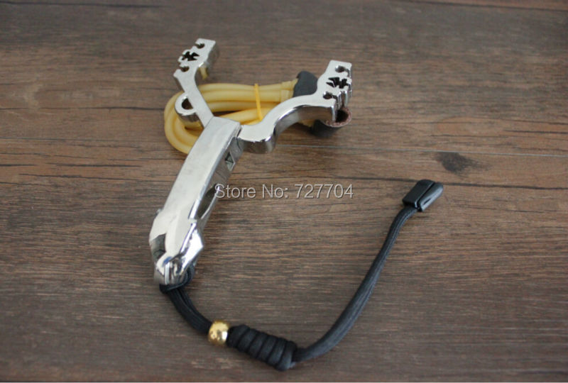Free shipping hunting bow Stainless steel alloy slingshot Detachable slingshot(China (Mainland))