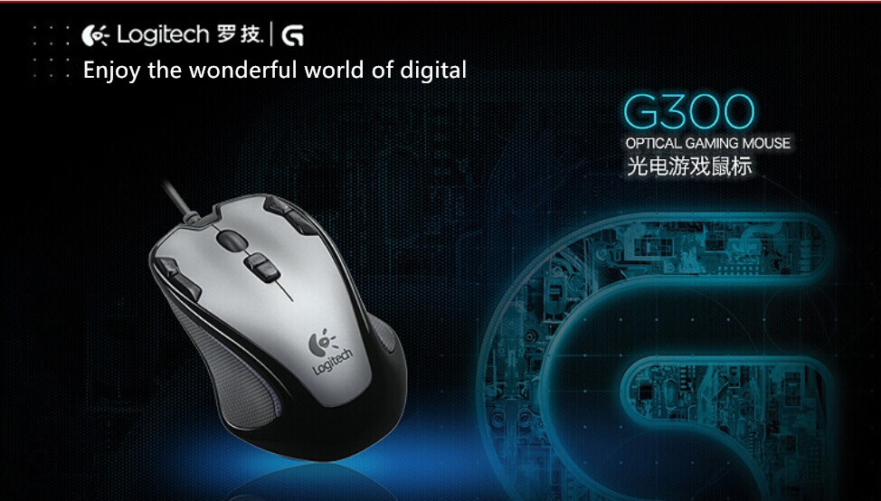 Real products Logitech / Logitech Gaming Mouse G300 G300S wired computer games Artifact Dota CS(China (Mainland))
