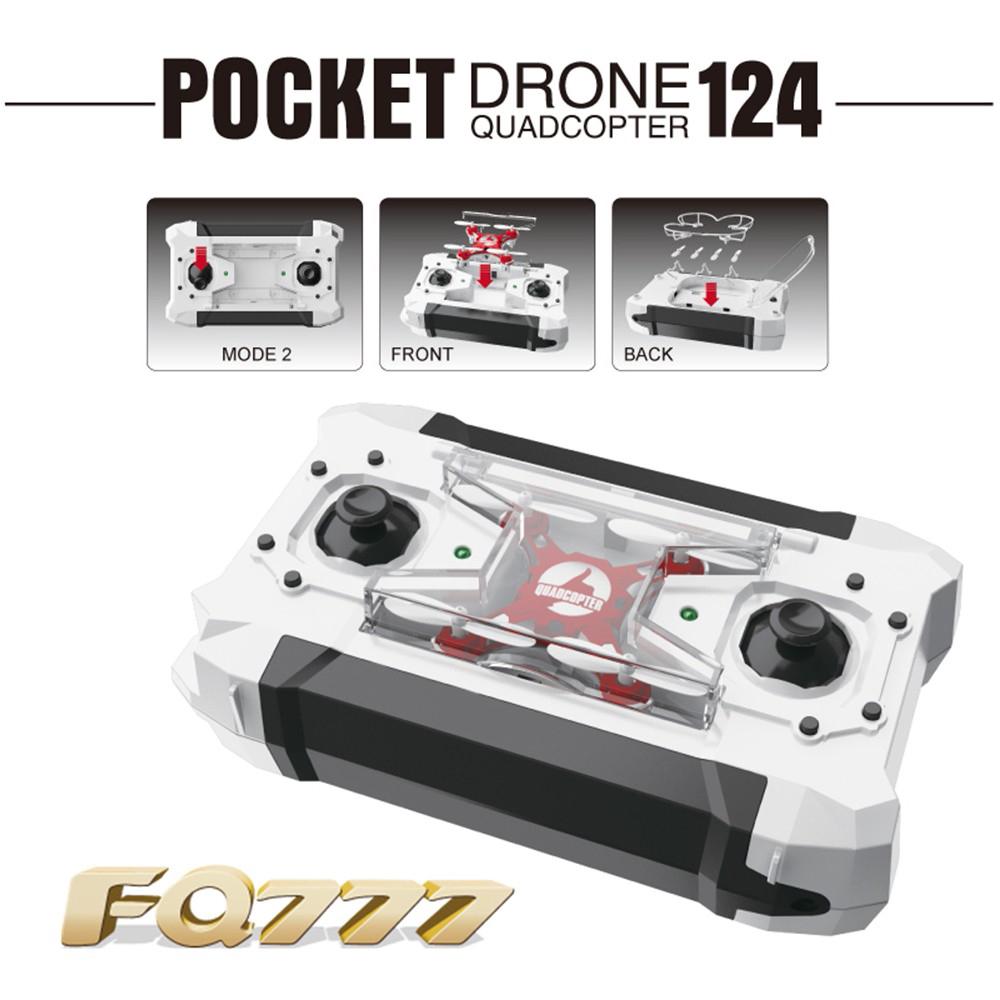 FQ777 - 124 RC Simulators 2.4G 4CH 6-Axis Gyro RTF Mini RC Pocket Quadcopter Aircraft Drones Four Colors for Choose(China (Mainland))