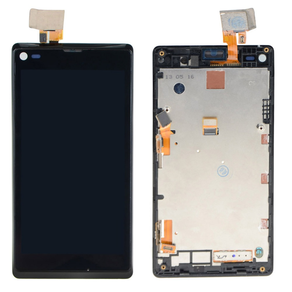 LCD Display + Touch Screen Digitizer + Frame For Sony Xperia L S36H C2105 VAG73 T18 0.4(China (Mainland))