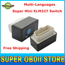 2015 Top Fashion Super Mini ELM327 Bluetooth OBDII For Power ON/OFF OBDII ELM 327 V2.1 Works for Adroid Windows Symbian Scanner(China (Mainland))