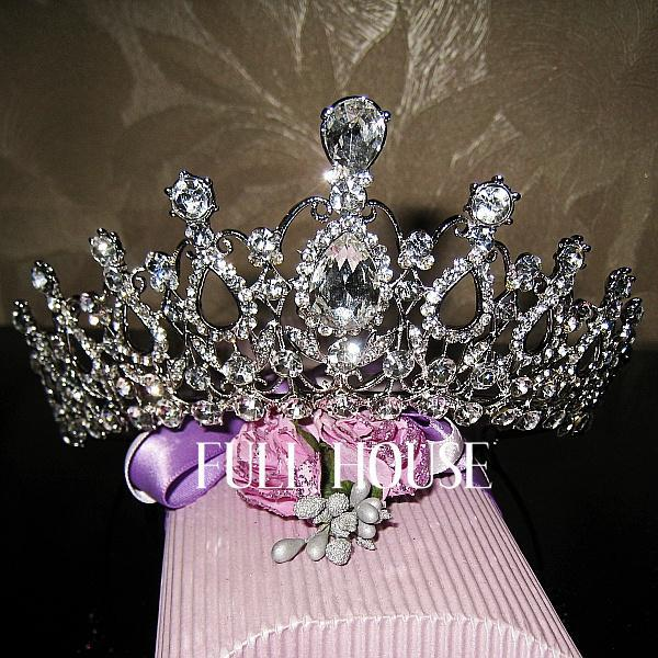 Oversize Crystal bride hair accessories wedding tiaras crowns sale rhinestone pageant head jewelry orname - Dr Queen Professional Bridal Jewelry Store store