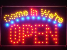 led003-r Come in we're OPEN Business LED Neon Light Sign Wholesale Dropshipping(China (Mainland))
