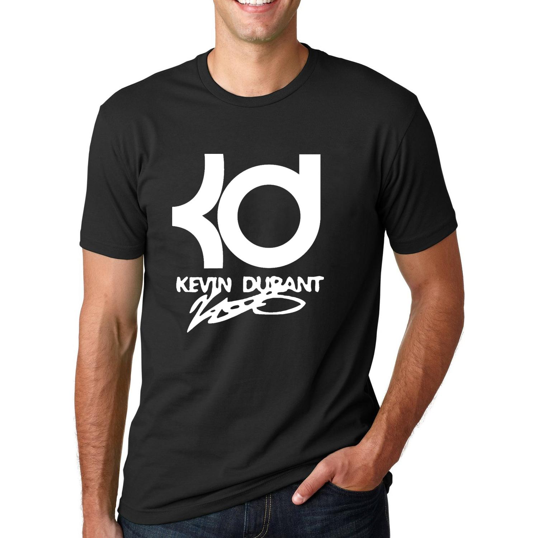 2016 New Kevin Durant Basketball T shirt KD Letter Printed Mens Short Sleeve T-shirts Fashion Summer Streetwear Hip Hop Tops Tee(China (Mainland))