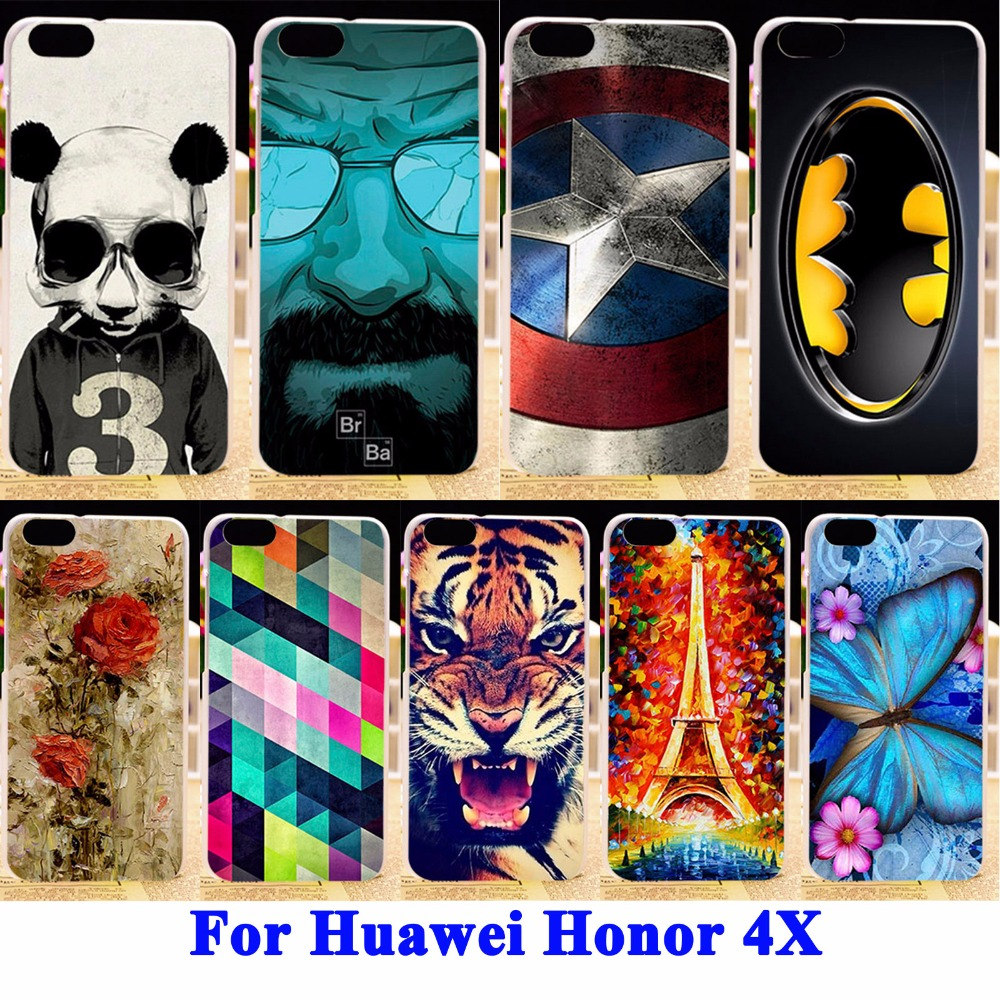 Soft TPU Hard Plastic Cell Phone Case Cover For Huawei Honor 4X Honor4X phone bags Housings Back Skin Shells Mobile Phone Cases(China (Mainland))