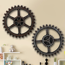Retro do the old industrial style loft wooden bar counter gear model individually decorated home decorative wall backdrop(China (Mainland))