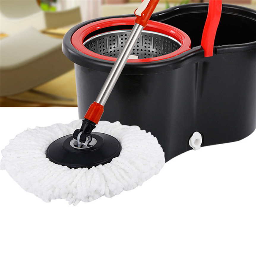 lovely pet New Replacement 360 Rotating Head Easy Magic Microfiber Spinning Floor Mop Head jan11(China (Mainland))