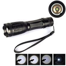 Outdoor CREE XML XM-L T6 LED 2200Lm Zoom Adjustable Zoomable Focus Flashlight Torch Light Black 5 Mode Durable(China (Mainland))