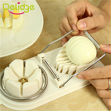 Buy Delidge 1 pcs 2 in1 Egg Slicer Tools Stainless Steel Egg Cutter Machine Multifunction Egg Slicer Sectione Cutter Mold for $2.11 in AliExpress store