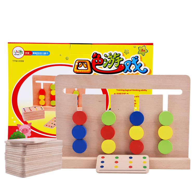 Math Toys For Kids : Montessori materials wood dominoes toys for children