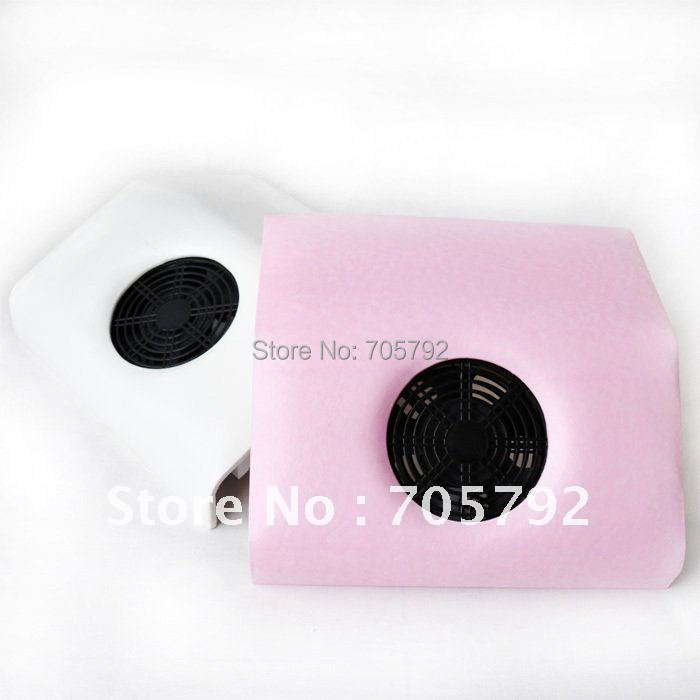 Free Shipping Pink White Available Nail Art Dust Suction Collector With Hand Rest Design Comes 2 Bags Wholesales Mini Size 220v
