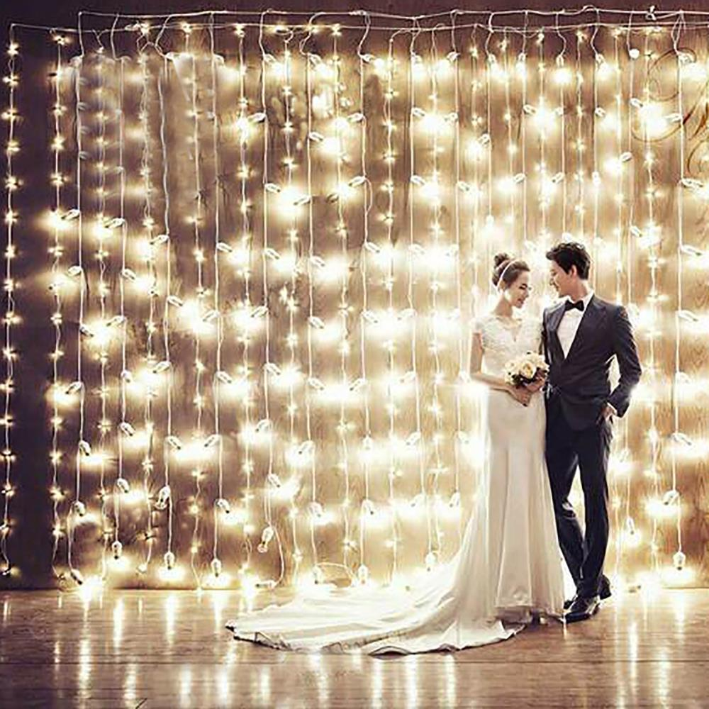 christmas outdoor 3m Droop 3m 300 led curtain icicle string light 110V New year Garden Xmas Wedding Party+ extend plug(China (Mainland))
