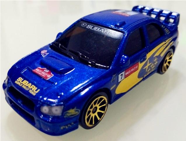 NO.7 BLUE WRC Subaru,1:64 Mini car model,rally racing alloy car model,car toys,WRC car Collection(China (Mainland))
