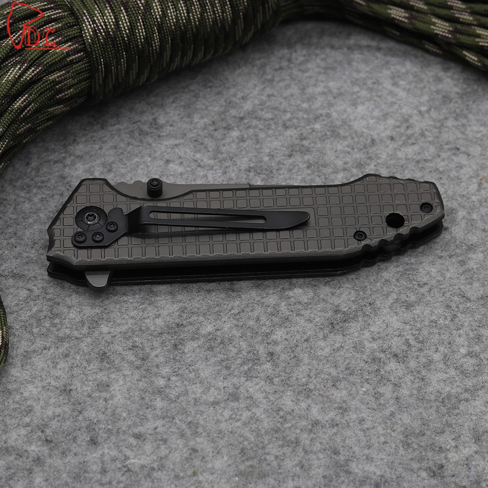 Buy Dcbear  High Quality Camping Folding Knives 3CR13MOV Blade Tactical Knife Outdoor Survival Tools Pocket  All Steel Handle Tool cheap