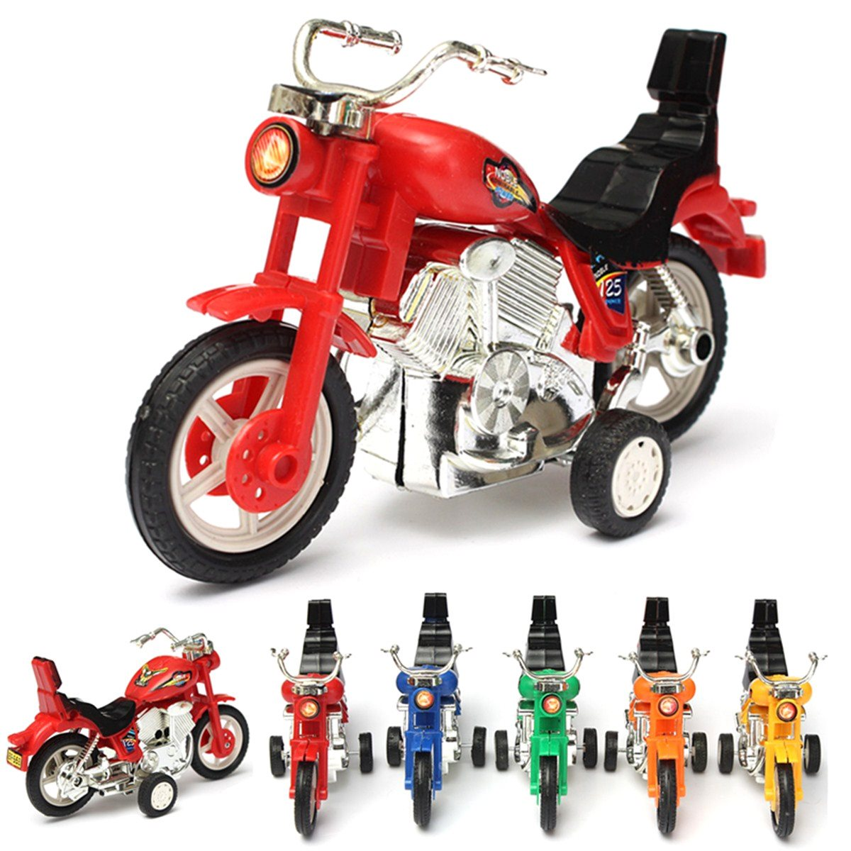 Poplular Funny Mini Baby Auto Motorcycle Toy Model Educational Play Vehicles Gift Electromobile Craft Children Kids Favorite DIY(China (Mainland))