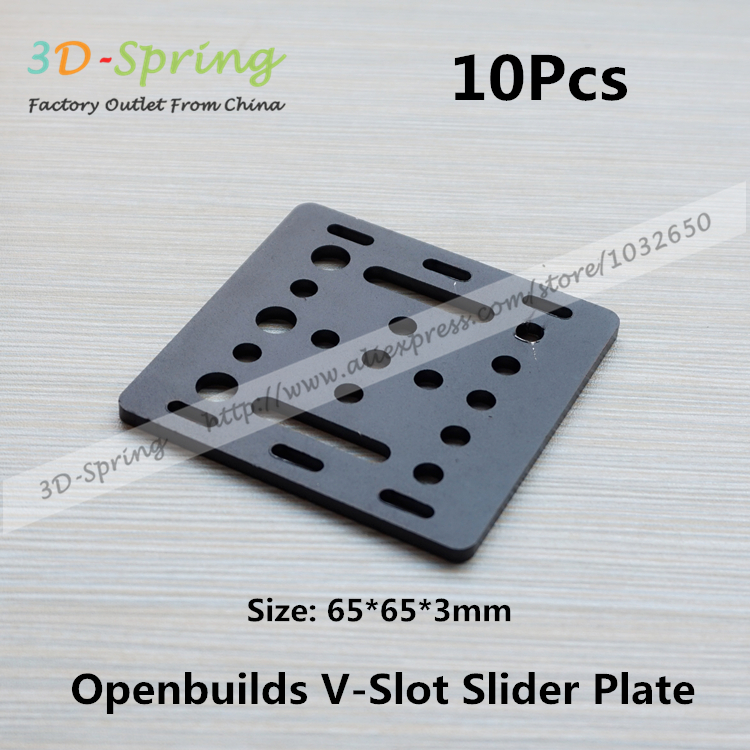 10Pcs Openbuilds Slider Plate Standard 65*65*3mm Aluminum Alloy CNC Special Slider Plate For 3D Printer<br><br>Aliexpress