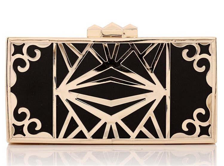 2015 Luxury Ladies Metal Gold Clutch Fashion Women Evening Bags Bridal Wedding Party Purses Chain h Handbags bolsas mujer XA974B<br><br>Aliexpress