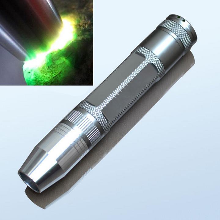 1 PCS Portable Q5 LED Flashlight Torch Jewelry jade glare Mini Rechargeable flashlight Aluminum 18650 white light for jade