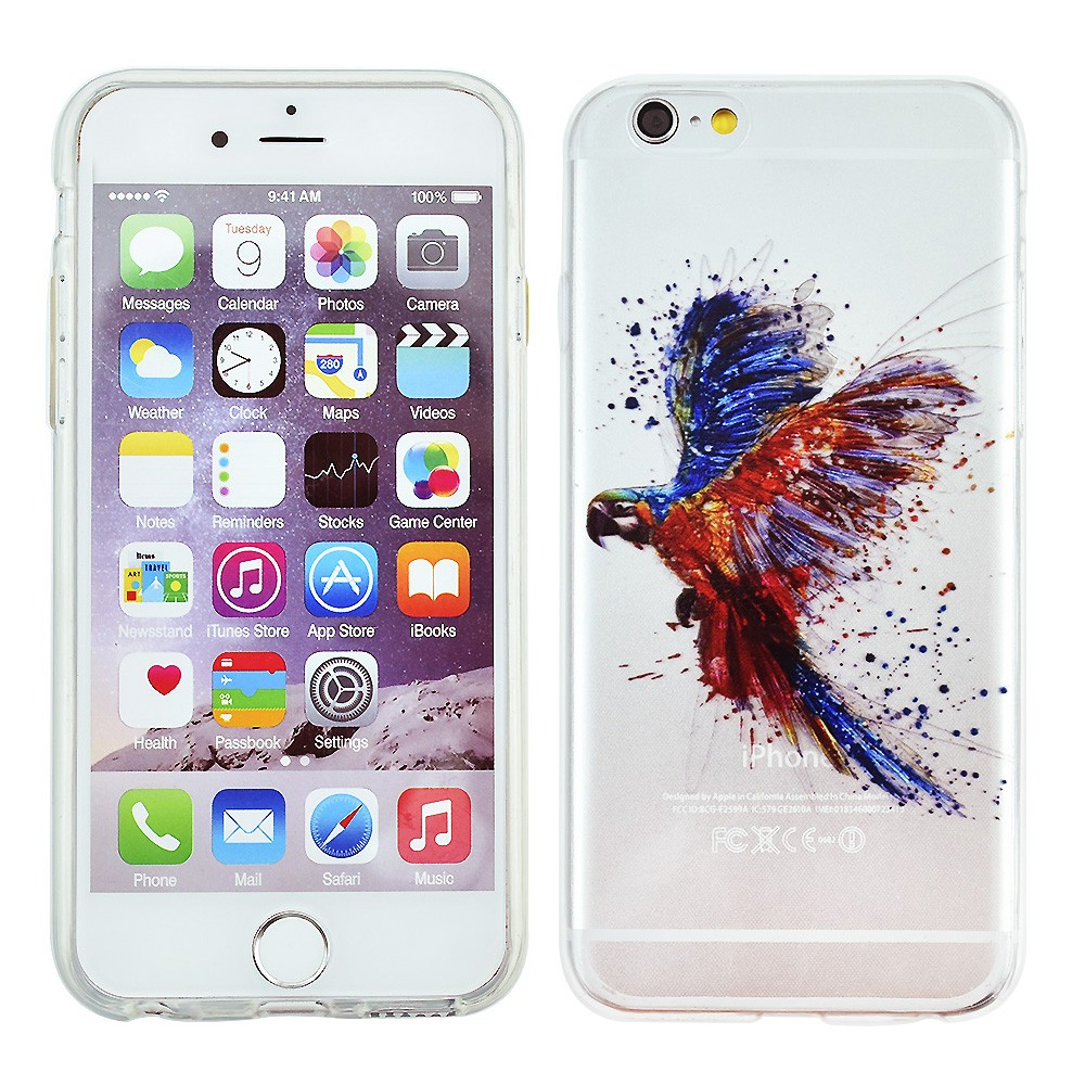 Fundas Phone Case Cover For iPhone 5 5s se Ultra Soft TPU Silicon Transparent Flowers Animals Scenery Design Mobile Phone Bag