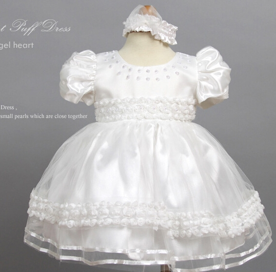 CH001 New Hot Sale Imitated Silk Lace Baptism Christening Dress Baby Christening Gown<br><br>Aliexpress