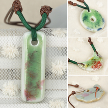 2015 New Porcelain Chian Classic Vintage Jewelry Handmade Ceramic Pendant Necklaces For Women Girls lx*SS0103*5
