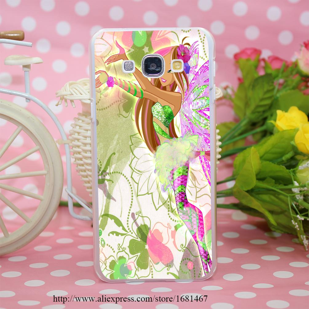 winx club vinks 7 season flora Transparent Hard Case Cover for Smasung Galaxy S5 Mini A3 A5 A7 A8 Note 2 3 4 5(China (Mainland))