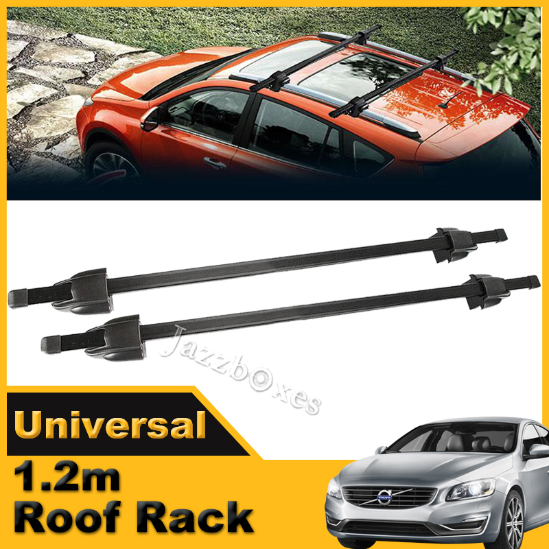 Universal Car Roof Rack 120cm 48inch Cross Bar With Lock Luggage Rack Auto Roof Carrier Black(China (Mainland))