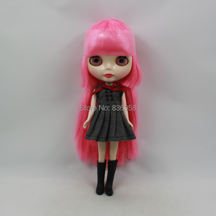 Pink Color Hair Tan Skin Nude Doll Suitable For DIY Change BJD Toy For Girls(China (Mainland))