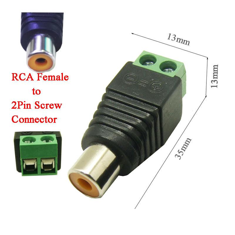 5pcs free shipping CAT5 To Camera CCTV Video AV Balun Phono RCA female jack Connector ,Terminal block to RCA female adapter(China (Mainland))
