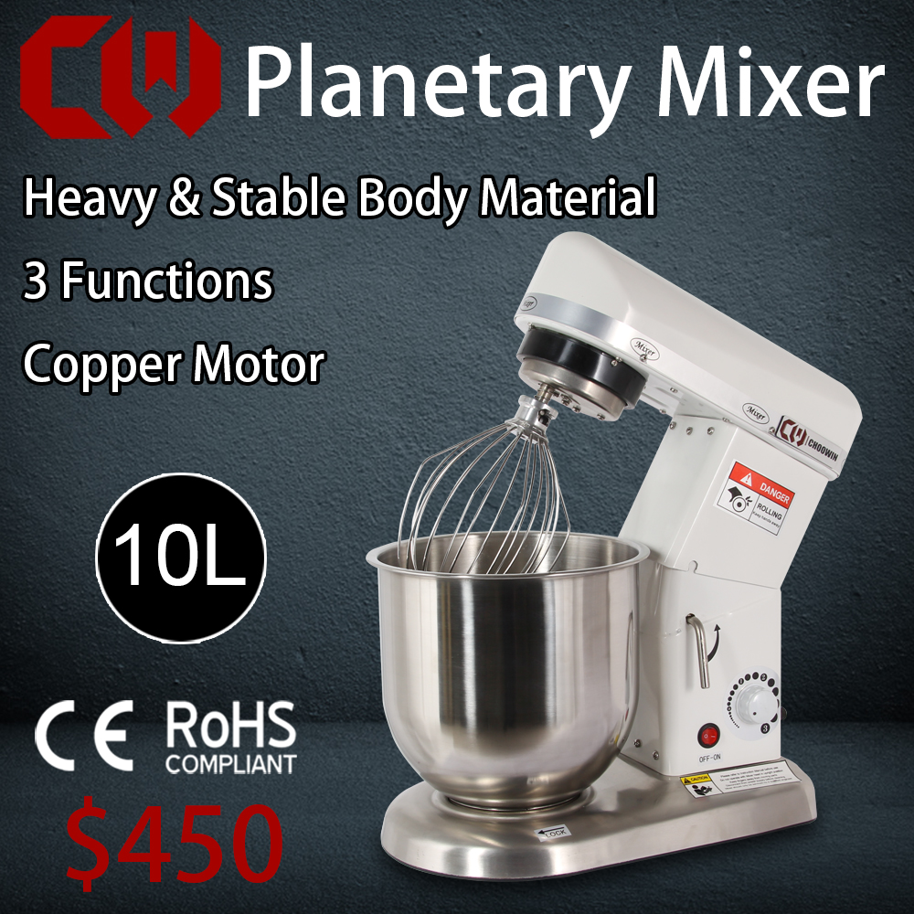 10L High Quality Full Stainless steel Planetary Mixer Commercial Stand Food Mixer, Egg,Cream,Flour Mixing Blender<br><br>Aliexpress