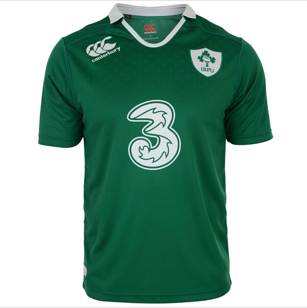 Rugby Jersey IRELAND canterbury 2015 Men's Home Jersey Rugby camisa shirt Embroidered Sublimate Jersey(China (Mainland))