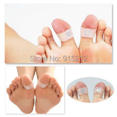 Hot! Guaranteed 100% New Magnetic Silicon Foot Massage Toe Ring Weight Loss Slimming Easy Healthy(China (Mainland))