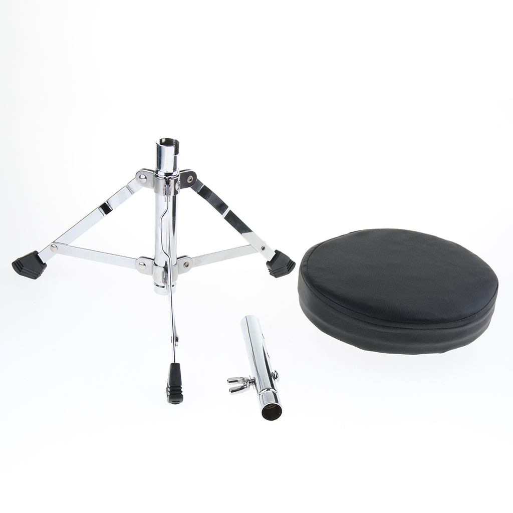 Tooyful Adjustable Metal Tripod Children Padded Stool Stand Chair for Guitar Piano Drum Playing