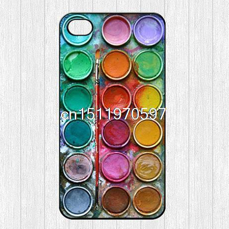Гаджет  Natural Beautiful Color Paintbox Design Cartoon Cute Printed Hard Plastic Mobile Protector Case Cover For Iphone 4 4S 5 5S 5C 6 None Телефоны и Телекоммуникации