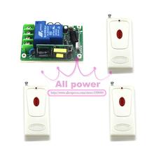 Беспроводной пульт дистанционного AC 85 В ~ 250 В, Управление светом 1CH рф системы, 315/433 MHZ 3 передатчика и 1 приемник