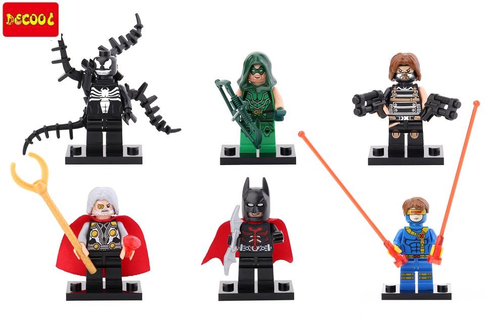 15set Decool 0134-0139 Building Blocks Super Heroes Avengers  Batman Winter Soldier Odin Cyclops Green Arrow Minifigures,bricks<br><br>Aliexpress