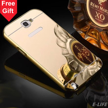 For Samsung Note2 Case Gold Color Matel Frame Mirror Back Plate Luxury Case Phone Case Cover For Samsung Galaxy Note 2 N7100(China (Mainland))
